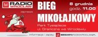 Mikołajkowy Bieg Radia Wrocław w Parku Tysiąclecia we Wrocławiu