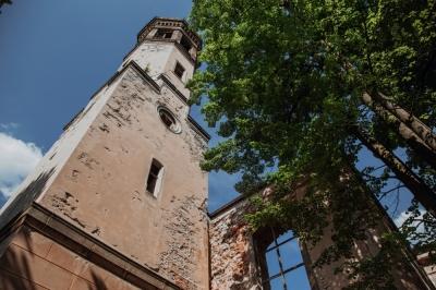 Dawny ewangelicki kościół w Miłkowie [FOTOSPACER]
