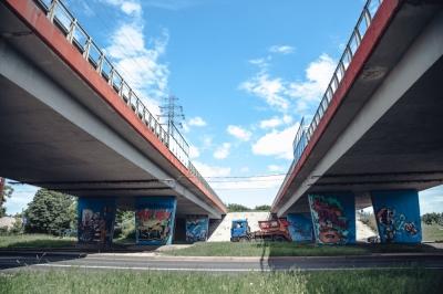 Barwny wiadukt na ul. Krakowskiej (FOTOGALERIA)